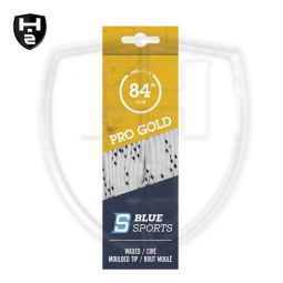 Blue Sports Pro Gold Schnürsenkel - gewachst