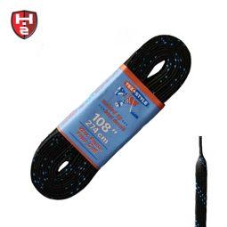 Hockeyzeug Schnürsenkel schwarz - gewachst